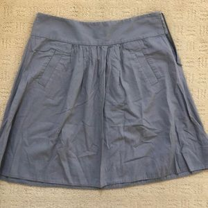 J crew a line cotton gray skirt size 6